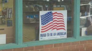 Sign posted at lumber yard in North Carolina...