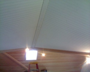 Sharp interior ceiling lid, Bristol, NH