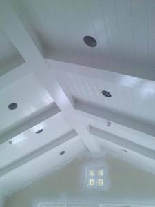 Williams Woodworks Inc tricking out a ceiling in SoCal