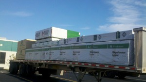 Weyerhaeuser in Chicago's first full unit headed out for delivery tomorrow!