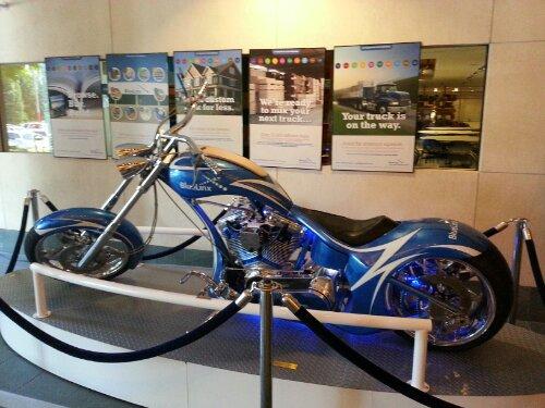 Custom Harley at Bluelinx HQ ATL