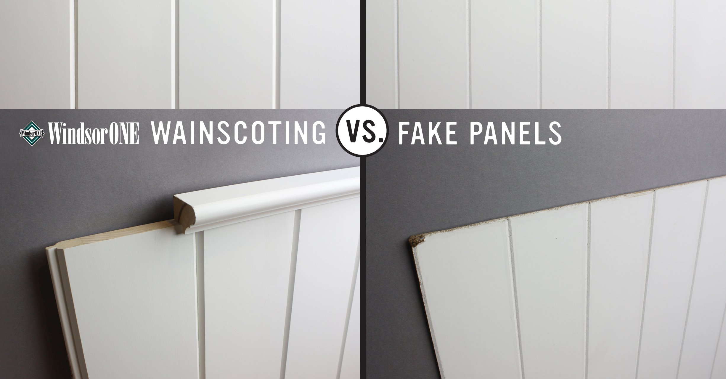 Real vs. Fake Wainscoting - WindsorONE