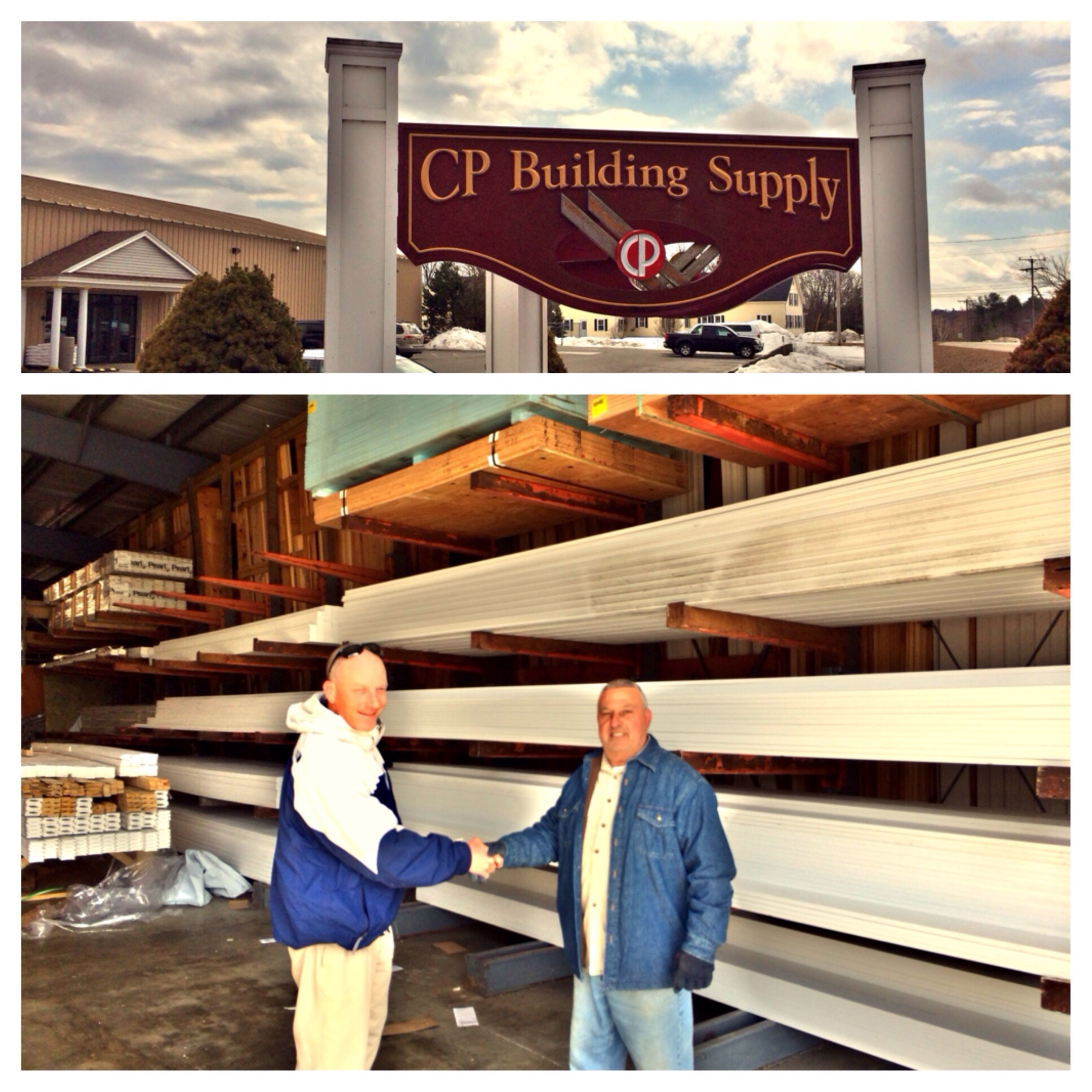 Tony shows us around at CP Building Supply