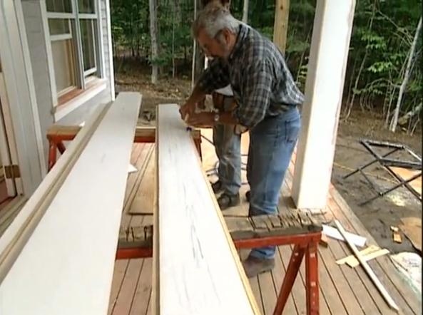 Tapered Column Wraps On Bob Vila Vermont Farmhouse Project