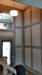 Interior trim board details by Infinity Homes & Development.